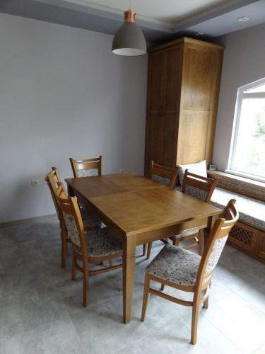 Маса Рон 150(190-230)/90/75 ясен, стол Вегас лукс