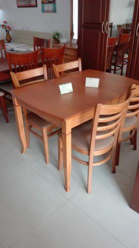 Маса Мисури 120(160)/80/75 бук, стол Каприз