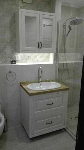Шкафове за тоалетна бук + дъб