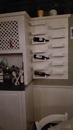 Етажерка за вино бук