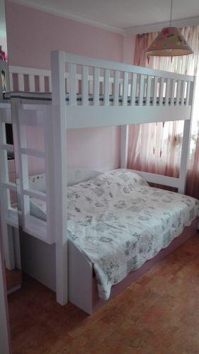 Двуетажно легло масив Бук