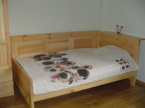 """Легло с висока странична табла модел """"Класик"""" чам"""