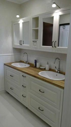 Шкафове за тоалетна бук и дъб