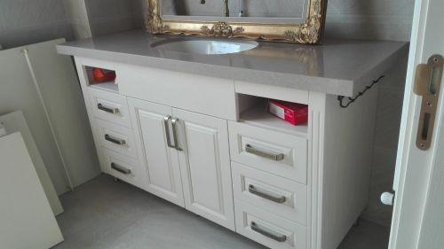 Шкаф за мивка масив ясен