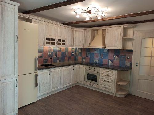 "Кухня масив Дъб, модел ""Класик"""